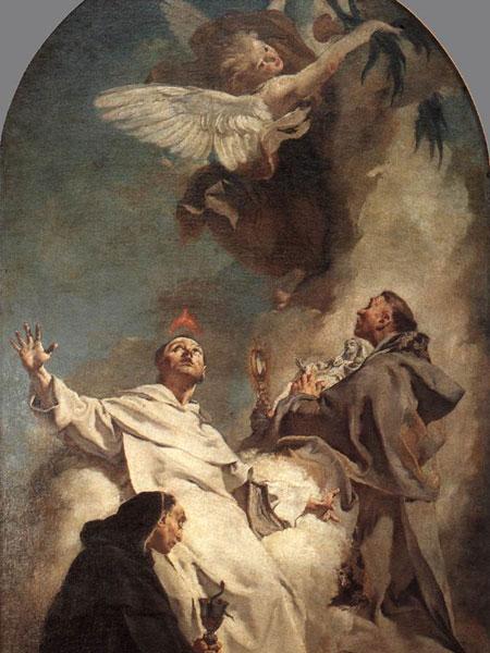 Visione dei Santi Ludovico Bertrando, Vincenzo Ferrer e Giacinto