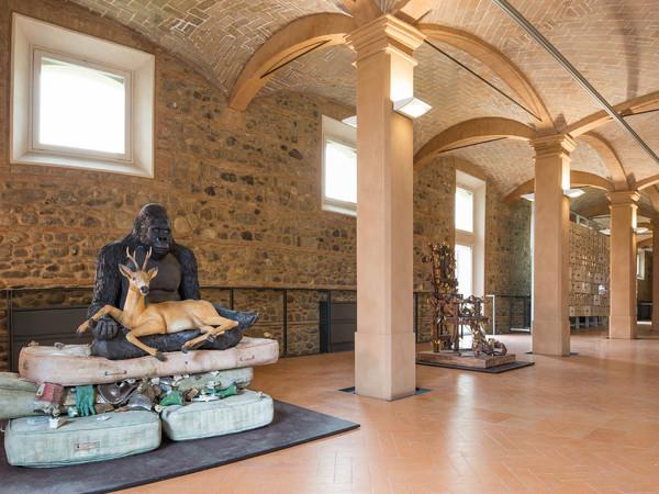 Inaugurazione del Museo Bertozzi & Casoni, Cavallerizza Ducale, Sassuolo. Fase di allestimento