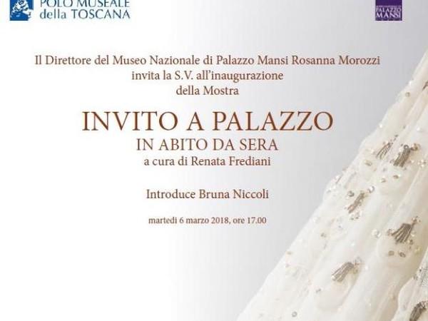 Invito a Palazzo, in abito da sera, Museo nazionale di Palazzo Mansi, Lucca