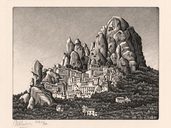 Maurits Cornelis Escher, <em>Pentedattilo</em>, Calabria, 1930, Litografia, 22.5 x 19.7 cm, Collezione privata, Italia All M.C. Escher works&nbsp;