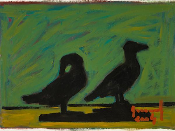 Salvatore Accolla, Senza titolo, 2004, smalto su cartoncino, 50 x 70 cm.