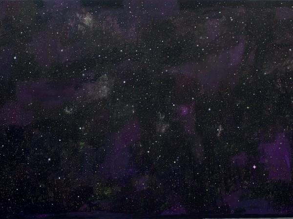 Natale Addamiano, Con le stelle, 2019, olio su tela, 140x250 cm.