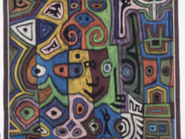 Corrado Cagli, Tripudio, 1973. Arazzo alto liccio-lana, 330 x 264 cm.