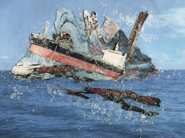 Gayle Chong Kwan, 'Crysanthi South Africa 2019', series 'Oil Spill Islands', collage, 2021