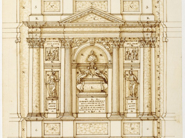 Vincenzo Scamozzi, Progetto per la tomba Dolfin in San Salvador, Venezia, 1596. Fondazione Musei Civici di Venezia, Museo Correr, Gabinetto dei Disegni e delle Stampe