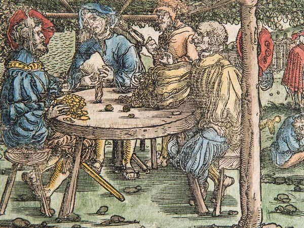 Giocatori d'azzardo dividono le vincite, 1596, Collezione Gherardo Ortalli