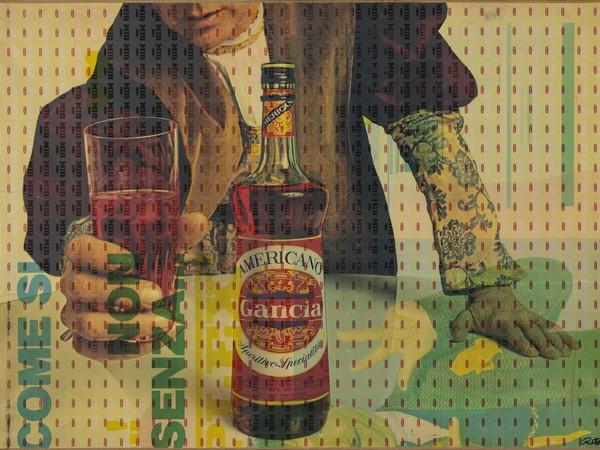 Mimmo Rotella, Americano, 1966, riporto fotografico su tela, 100x142 cm.