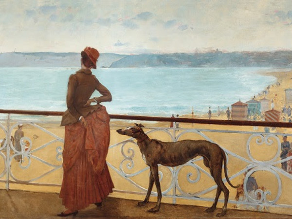 Adolfo Guiard, On the Terrace (En la terraza), 1886 (detail). Oil on canvas, 110 x 470 cm. Colección Sociedad Bilbaina