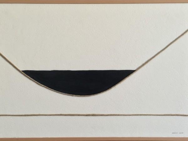Bruno Barani, Da un gomitolo di spago #2, 2015, tecnica mista su tavola, cm. 36x5
