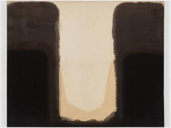 Yun Seong-ryeol, Umber-Blue, 1978. Olio su cotone, 80,6x100 cm.