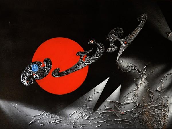 Vittorio Patrone, Verso l'Infinito, 2014. Acrilico e tecnica mista su tela, cm. 70x50