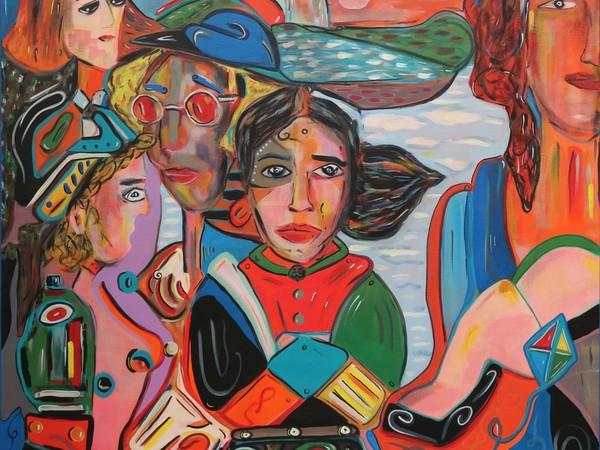 Lorenzo Maria Ciulla, Grande come la Terra, acrilico su tela, cm. 100x100