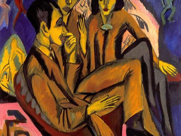 Ernst Ludwig Kirchner, Group of Artists, 1913, olio su tela