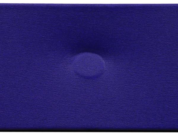 Turi Simeti, Un ovale blu, 2016, 14x42,5 cm.