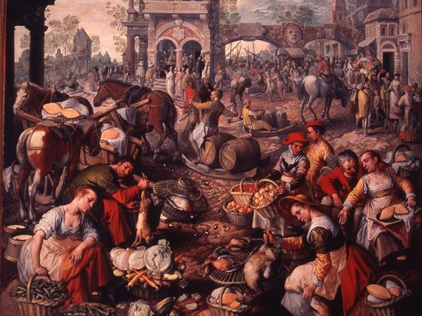 Joachim Beuckelaer, Mercato in piazza, XVI sec.