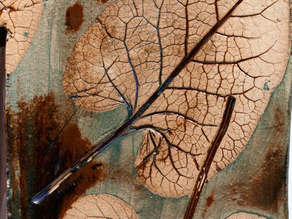 Sam Falls, Rain painting 1 (dettaglio), tecnica mista su tela