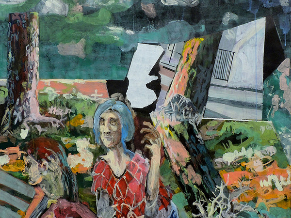 Leopoldo Innocenti, Frammenti, pigmento su carta, cm. 100x100