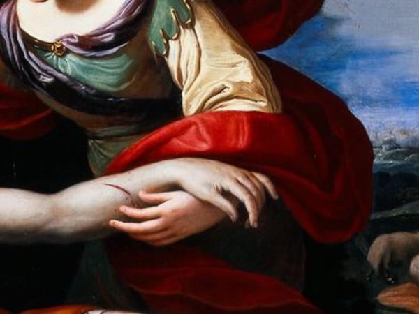 Ludovico Lana (1597-1646), Erminia ritrova Tancredi ferito, olio su tela (particolare)