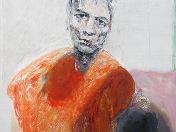 Ennio Calabria, Autoritratto, verità nell'enfasi, 2011 acrilico su tela, cm. 90x70