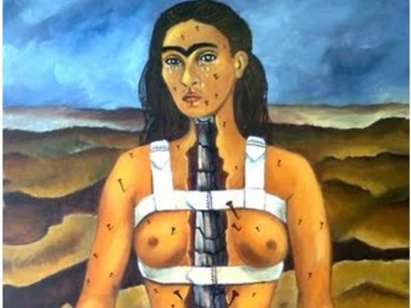 Frida Kahlo,<em> La columna rota</em>, 1944, oil on canvas, 39.8 x 30.5 cm, Museo Dolores Olmedo.&nbsp; &copy;Archivio Museo Dolores Olmado / Foto Erik Meza - Xavier Otada&nbsp; <strong>&copy;</strong>Banco de M&eacute;xico Diego Rivera Frida Kahlo Museums Trust M&eacute;xico, D.F. by SIAE 2017<br /> <br />