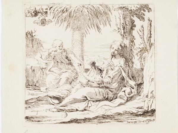 Elisabetta Sirani, Riposo in Egitto Acquaforte. Firenze, Gallerie degli Uffizi, Gabinetto dei Disegni e delle Stampe