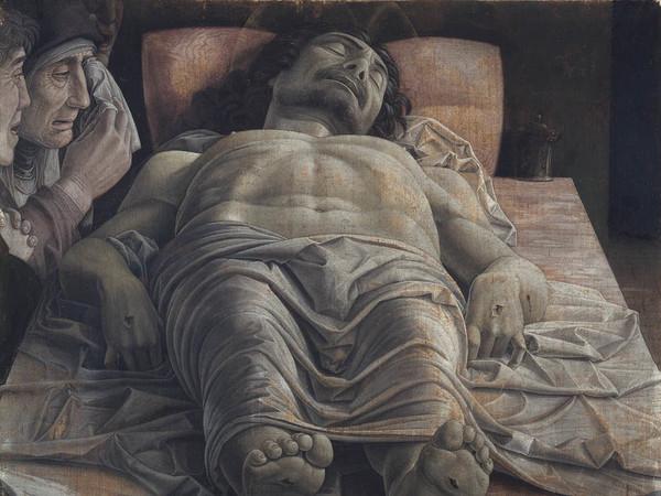 Andrea Mantegna,<em> Cristo Morto</em>, 1475 - 1478 circa, Pinacoteca di Brera, Milano<br />