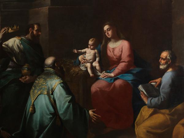 Ercole Graziani,<em> Adorazione dei Magi</em>, Particolare, Olio su tela, 195 x 148 cm<br />