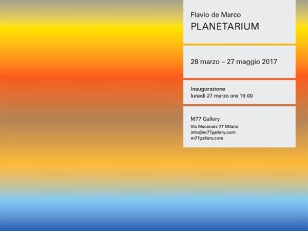 Flavio de Marco. Planetarium, M77 Gallery, Milano