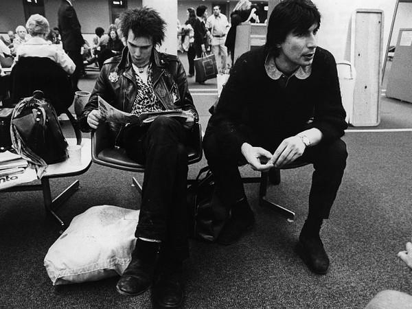 John Tiberi with Sid Vicious during USA tour, Jan 1978