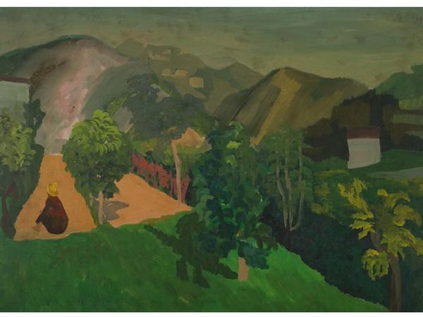Corrado Cagli, Paesaggio, 1935 c., olio su tavola, cm. 38 x 58