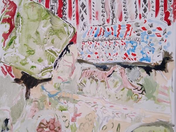 Giulio Catelli, Divanetto, 2020, olio su tela, 60x50 cm.