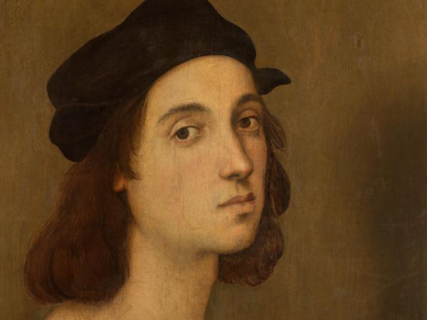 Raffaello Sanzio, Autoritratto, 1504-1506, Olio su tavola, 33 x 47.5 cm, Galleria degli Uffizi, Firenze