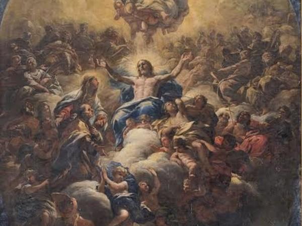 Luca Giordano, Gloria di Sant'Andrea Corsini, bozzetto per la cupola della cappella Corsini di Santa Maria del Carmine di Firenze, olio su tela, Firenze, Gallerie degli Uffizi