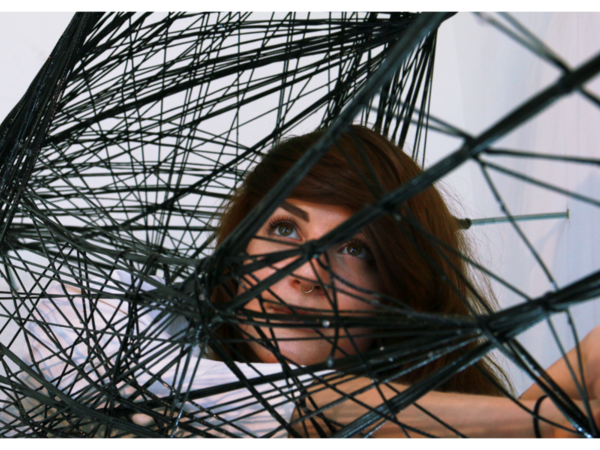 Maria Yablonina, Mobile Robotic Fabrication System for Filament Structures, installazione (part.)