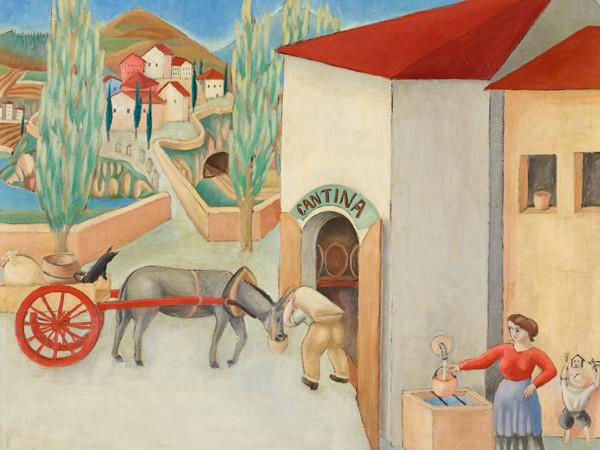 Gigiotti Zanini, Paesaggio con carretto, (1919), Mart, Deposito Fondazione Cassa di Risparmio di Trento e Rovereto