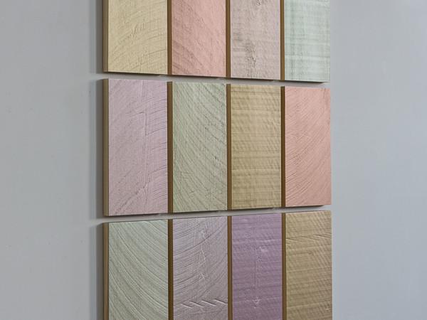 Winston Roeth, To be with you, 2014, 12 pannelli in legno di pioppo, cm. 50,8 x 29,2 ciascun pannello