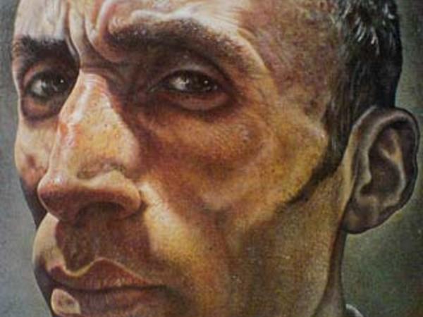 Andrea Martinelli, L'uomo che aveva ombre crudeli  2004  Olio su tavola  cm.110x70