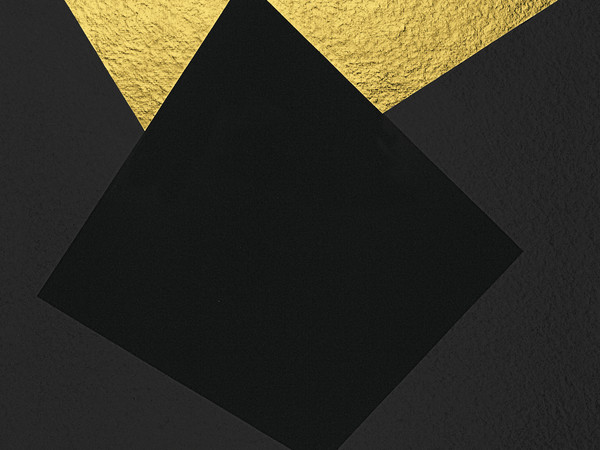 Alberto Burri, Oro e nero 3, 1993. Serigrafia e foglia d'oro, Carta Colombe, cm. 60,3x86,6. Cartiera Moulins de Larroque et Pombié