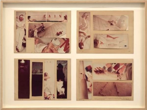 Gina Pane, Io mescolo tutto: Cocaina, Frà Angelico, 1976, 14 fotografie a colori su cartoncino, cm. 60x80