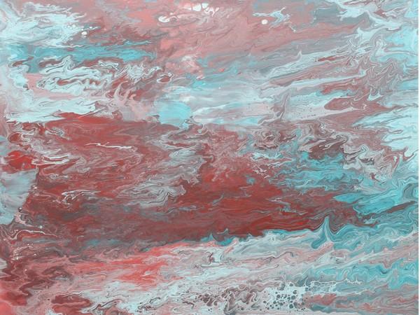 Zenu (Lorenzo Zenucchini), The noise, 2019, tecnica mista, 80x80 cm.