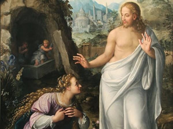 Fede Galizia (Milano, 1578 - Milano, 1630), Noli me tangere, Olio su tela, 313 x 196.5 cm