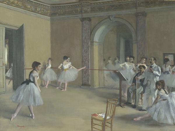 Edgar Degas, Il foyer della danza al teatro dell'Opéra, 1872, Olio su tela, 46 x 32 cm, Parigi, Musée d'Orsay | © René-Gabriel Ojéda / RMN-Réunion des Musées Nationaux/ distr. Alinari