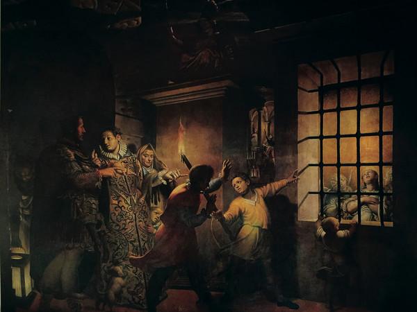 Antonio Campi,&nbsp;Santa Caterina visitata nel carcere&nbsp;dall&rsquo;imperatrice Faustina,&nbsp;1584,&nbsp;olio su tela, 400x500 cm.&nbsp;Milano, chiesa di Santa Maria degli Angeli.&nbsp;Restauro Fondazione Credito Bergamasco - 2018<br />