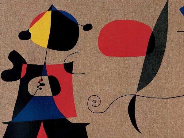 Tessitura Arazzeria Scassa, Composizione, 1975, Da Joan Miró, Arazzo ad alto liccio, lana, 238 x 122 cm | Courtesy of Tessitura Arazzeria Scassa, Asti Collezione privata, Asti