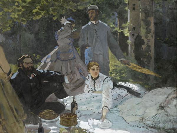 Claude Monet, Colazione sull'erba (1865-1866). Olio su tela; 248,7x218 cm. Parigi, Musée d'Orsay