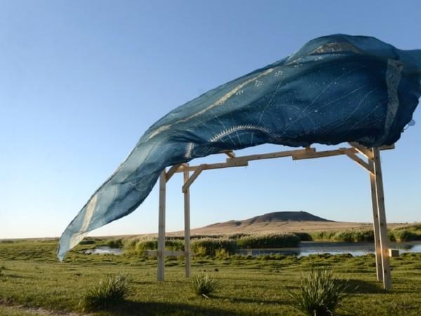 Lisa Batacchi, Land Art, Mongolia Biennale, Installazione site specific e performance