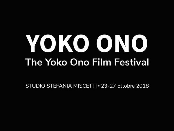 The Yoko Ono Film Festival, Studio Stefania Miscetti, Roma