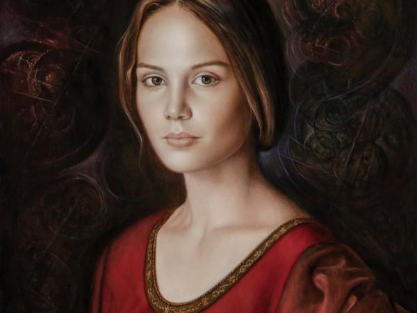 Ulisse Sartini, Omaggio alla Belle Ferroniére, 2018, olio su tela, cm. 70x50