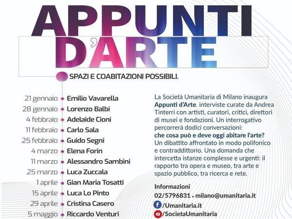Appunti d'Arte. Spazi. Coabitazioni possibili, Società Umanitaria, Milano