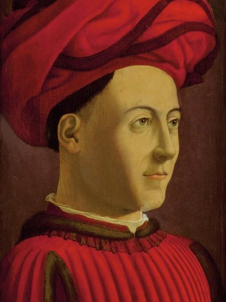 Andrea del castagno, doppio ritratto di personaggi della famiglia